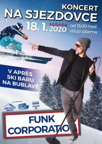 Koncert Funk Corporation na sjezdovce - Aprés Ski bar - sobota, 18.01.2020 od 15.00 hodin.